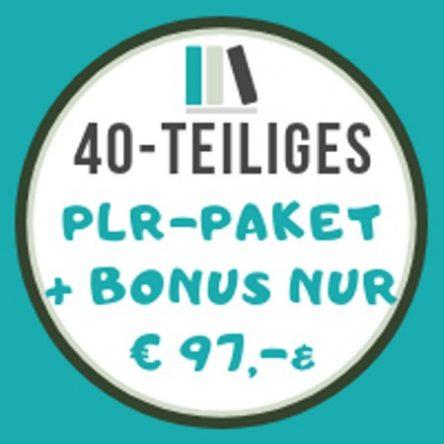 40-teiliges PLR-Paket + Bonus